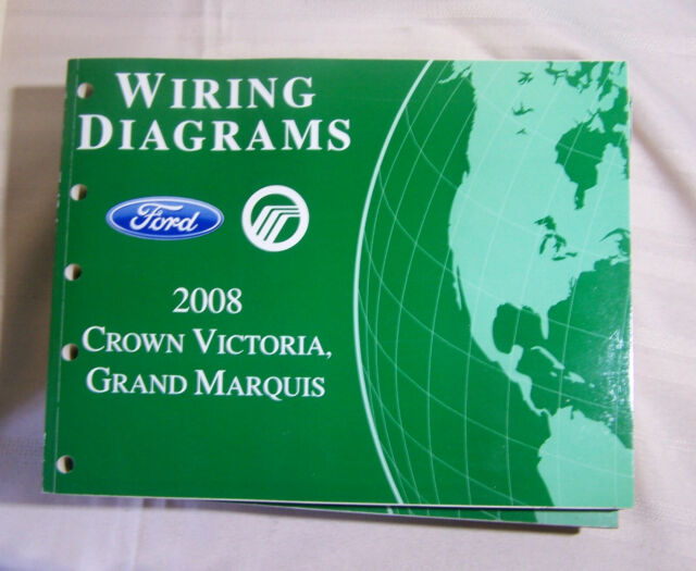 2008 Ford Crown Victoria Mercury Grand Marquis Electrical Wiring Diagrams Manual For Sale Online