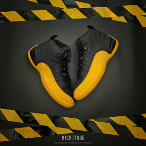 On Hand Air Jordan 12 Retro Xii Aj12 University Gold Black Yellow
