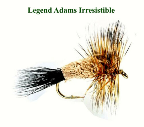 ADAMS IRRESISTIBLE Dry Fly Trout /& Grayling Fly Fishing Flies Choice Of Size Qty