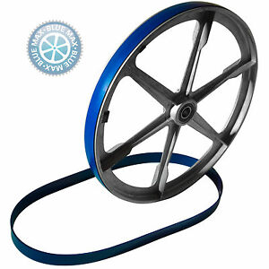 2-BLUE-MAX-URETHANE-BAND-SAW-WHEEL-BELTS-FOR-DELTA-SHOPMASTER-BS100-BAND-SAW