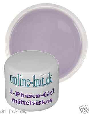 30ml 1 Phasen UV-Gel, Allroundgel 3in1, Nail, mittelviskos, transparent, klar