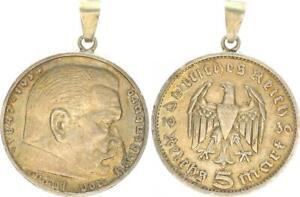 3. Imperio Cuenco Münzanhänger Con Paul De Hindenburg 1936 5Marco