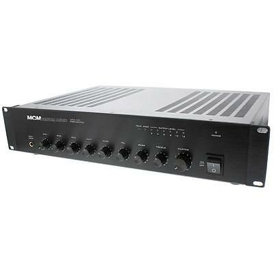 NEW 20W 70v Paging Amplifier.4 inputs.Commercial Background Music.business.amp