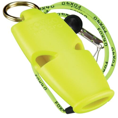 BEST VALUE Fox 40 Micro Whistle Rescue Safety Referee Alert FREE LANYARD