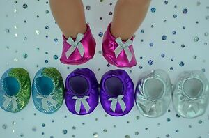 PlaynWear-Doll-Clothes-17-034-Baby-Born-4x-BOOTIES-HOT-PINK-RAINBOW-SILVER-PURPLE