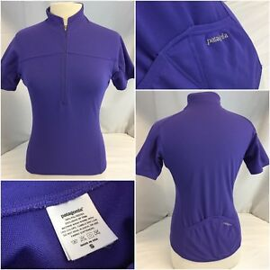 Patagonia Cycling Jersey Small Women Purple 1 2 Zip Poly Mint YGI J8 ... c266c9421