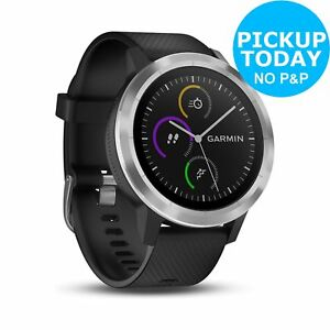 Garmin Vivoactive 3 GPS Smartwatch -  Black Steel. From the Argos Shop on ebay