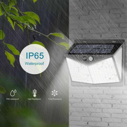 208 LED Waterproof Solar Power PIR Motion Sensor Wall Light Outdoor Garden Lamp