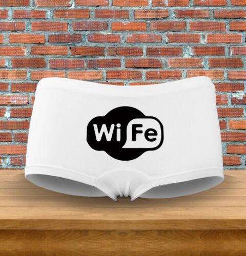 "/""Wi-FE/"" Funny Wi-Fi Nerdy Funny Gift Womens Underwear Panties"