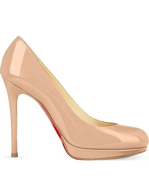 Christian Louboutin Louboutin Louboutin New Simple Pump 120 Patent heels NUDE TAILLE UK 3.5 EU 36.5 8941f7