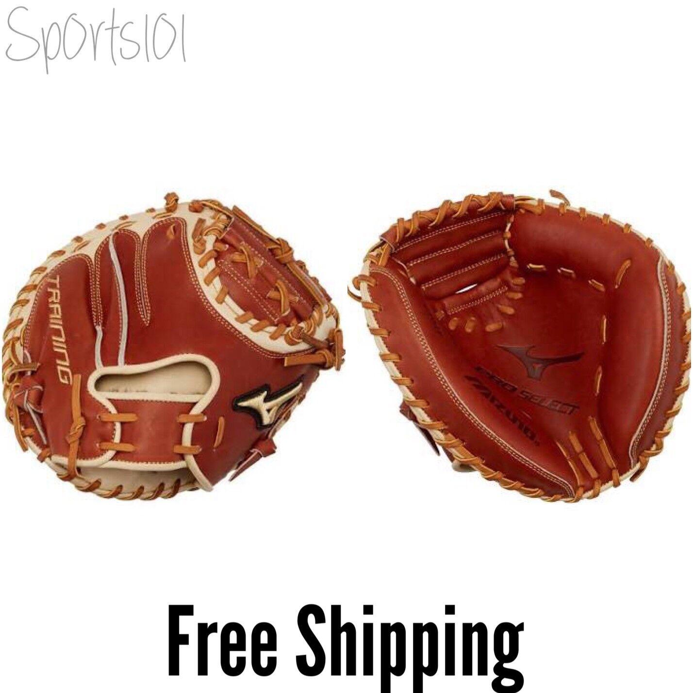 Mizuno Pro Select Baseball Training Catcher's Mitt Mitt Mitt 27.5