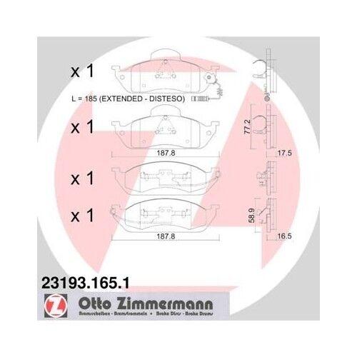 Scheibenbremse vorne 1363601110 Bremsbelagsatz