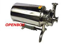 Openbox 110v Food Grade Pump Centrifugal Pump Sanitary Beverage Pump 3th