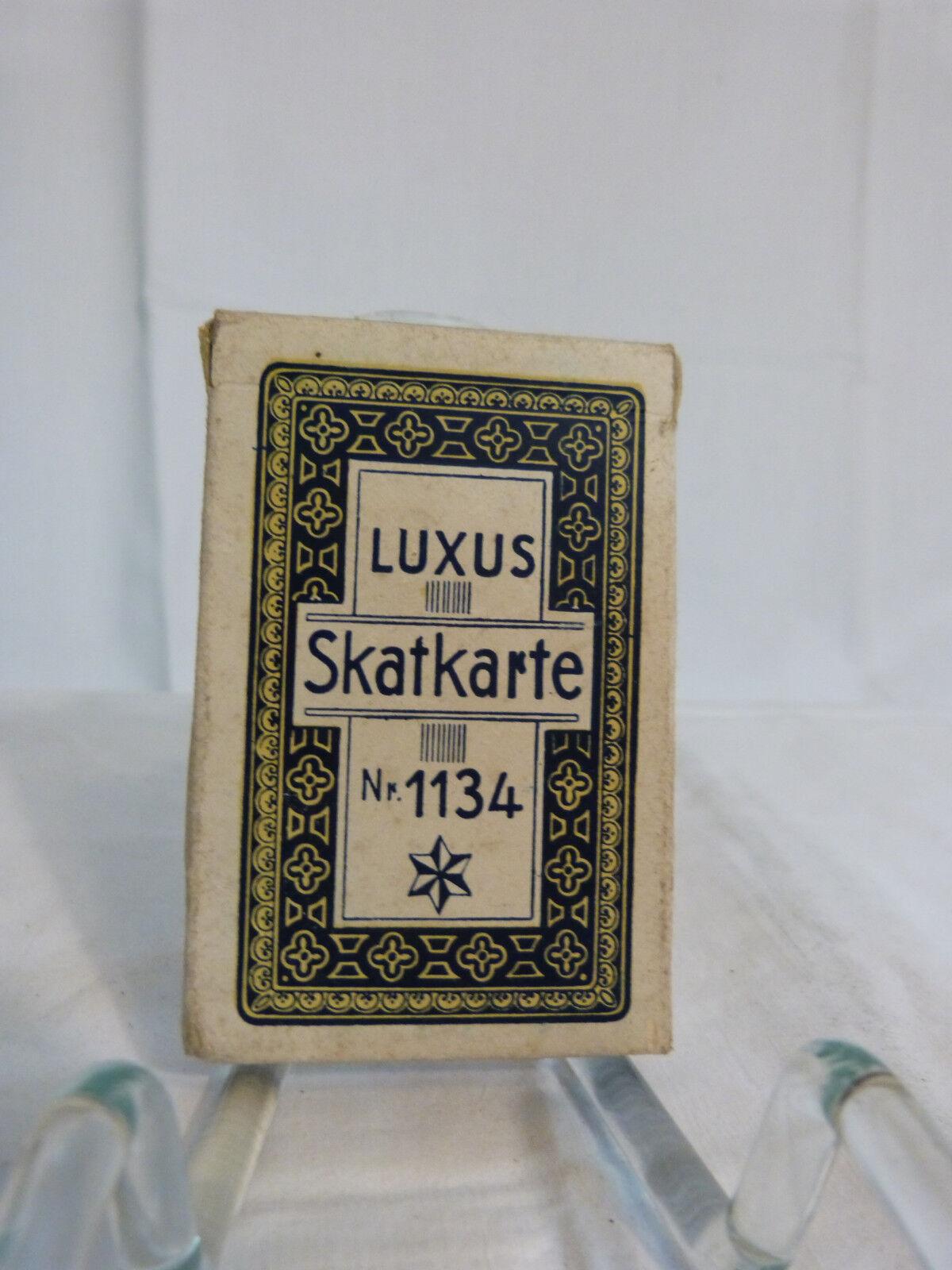 Altes antikes Skatspiel französisches Blatt ca. 1940er Jahre Luxus Skatkarte