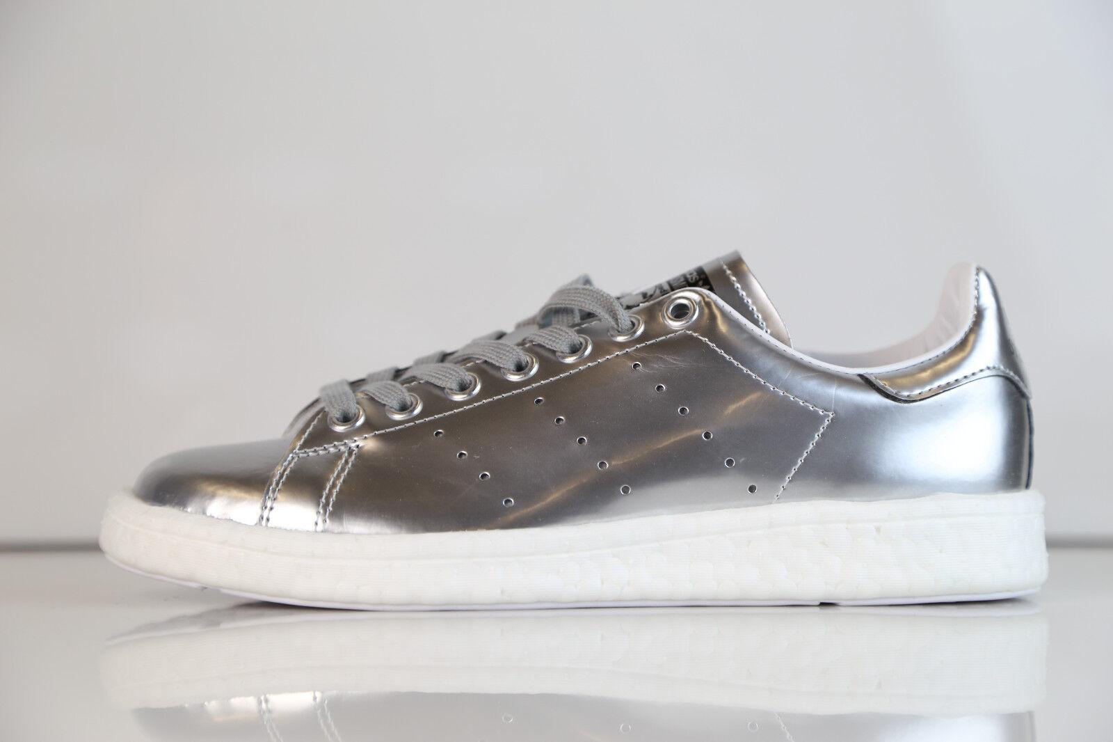 Adidas Womens Stan Smith Boost W Metallic Silver BB0108 5-10 metal ultra 1