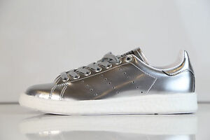 213bf31c21ec9 Adidas Womens Stan Smith Boost W Metallic Silver BB0108 5-10 metal ...