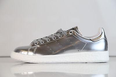 Adidas Womens Stan Smith Boost W Metallic Silver BB0108 5 10 metal ultra 1 | eBay