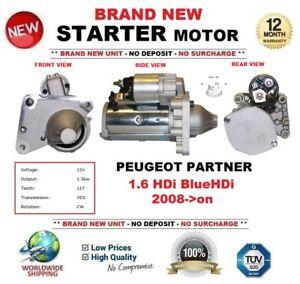 d6dd5f5b1b FOR PEUGEOT PARTNER 1.6 HDi BlueHDi 2008-  STARTER MOTOR 1.5kW ...