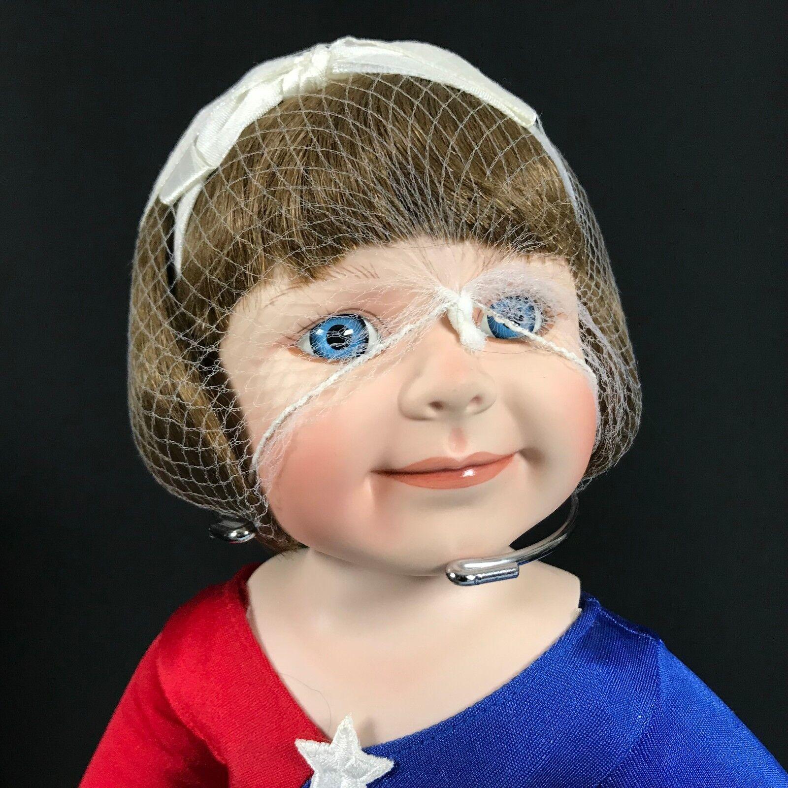 1996 Ashton Drake Little Gymnast Kathy Hippensteel Porcelain Doll Retirot NEW