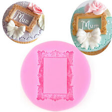 l+ Frame Shape Silicone Mold Chocolate Fondant Wedding Cake Decorating Mold DIY