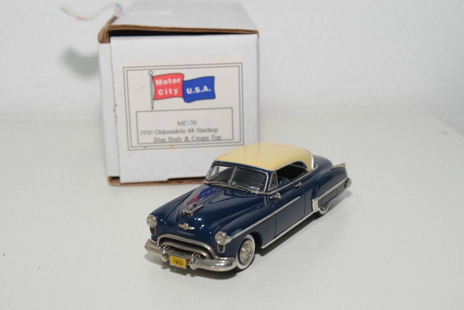 . U.S.A. models Motor City mc-70 Oldsmobile 88 HARD TOP 1950 blu MIB RARE