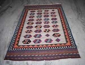 Turkish-Traditional-Area-Rug-Fine-Wool-Vintage-Carpet-Size-236x147-Cm-DN-743