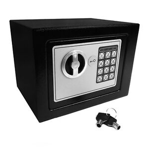 High-Security-Home-Safe-Safebox-Secure-Storage-Box-With-Keypad-And-Key-Lock