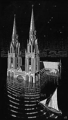 MC Escher /'Other World/' FINE ART PRINT Escher Art Paper Canvas High Quality