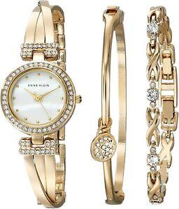 Brand-authentic-Anne-Klein-swarovski-crystals-bracelet-watch-set-AK-1868gbst