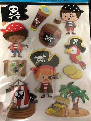 PIRATE STICKERS 16 2D Stickers Scrapbook Crafts Album