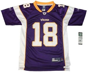 Image is loading Youth-sized-NFL-Minnesota-Vikings-18-Sidney-Rice- 68b194077