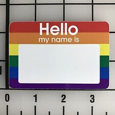 250 Rainbow Hello My Name Is Name Tags Labels Badges Stickers Peel Stick