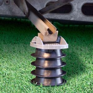 Details about Caravan Stacker Stack Pads Feet Blocks Stabilisers Leg Corner  Steady Set x 4