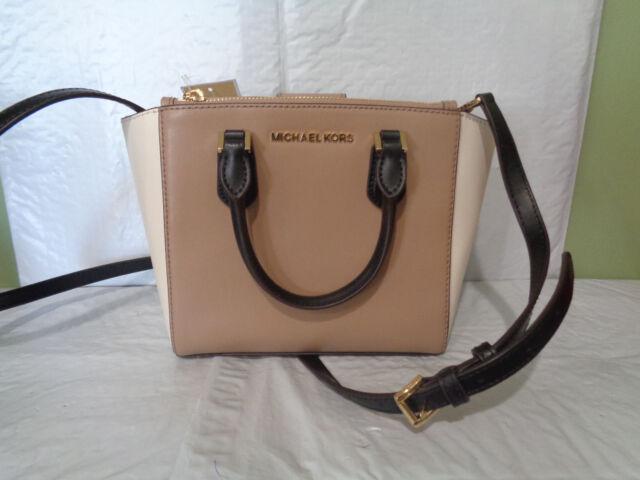 Michael Kors Carolyn DK Khakiecru Leather Small Tote 35f8gy7t1t