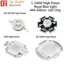 1w 3w 5w 10w 20w 30w 50w 100w Royal Blue 440 450nm High Power Led Smd Chip Lamp