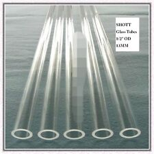 "1/2"" PYREX TUBING HEAVY WALL Sight Glass, Gauge Glass, Steam Boiler, Custom cut"