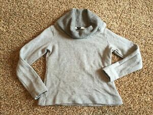 J-Crew-Womens-Gray-Wool-blend-Sweater-long-sleeve-cowl-neck-line-S-Small