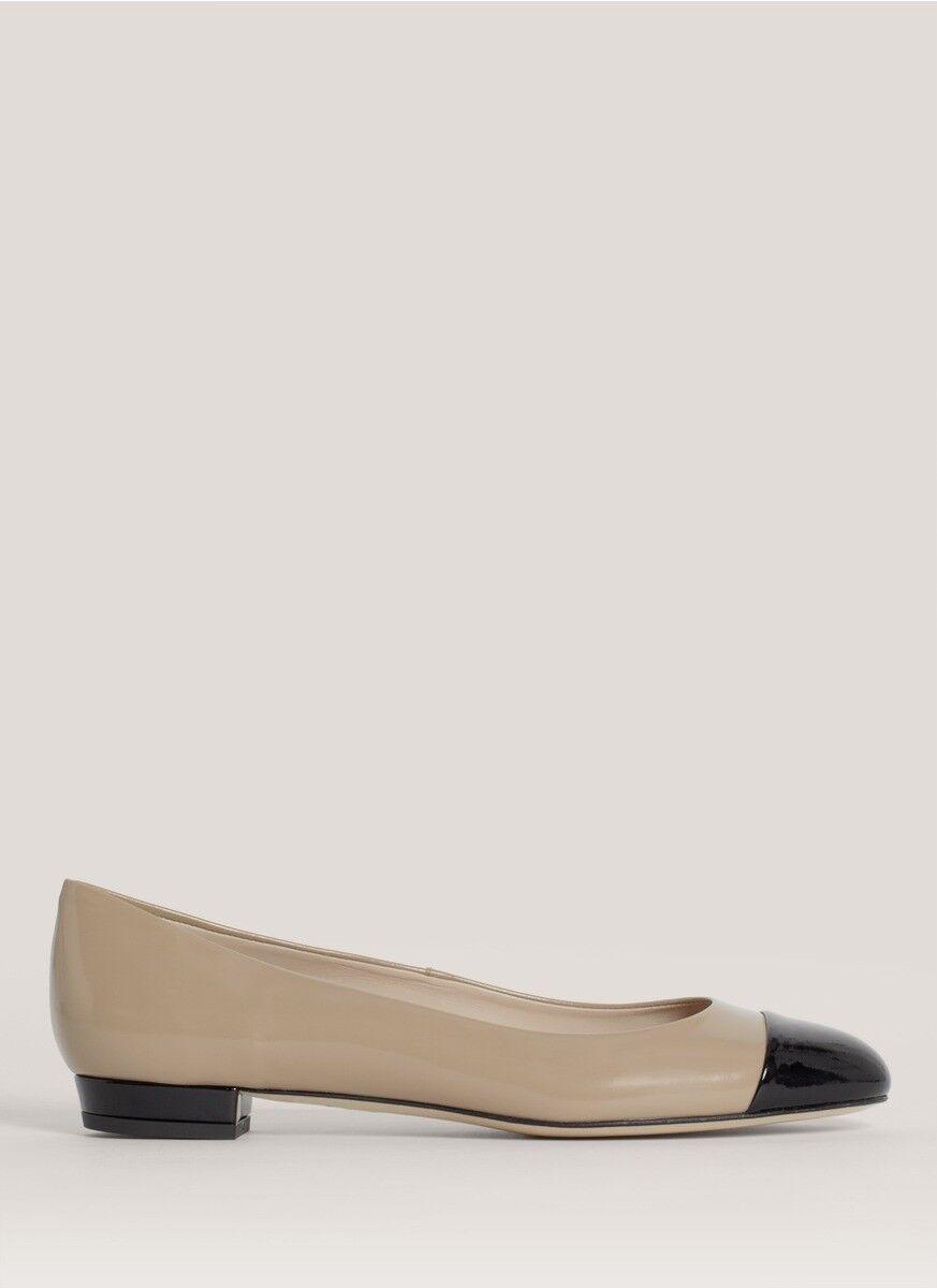 risparmia il 35% - 70% di sconto LK Bennett Scott Cap Toe Toe Toe Patent Leather Ballet Flats 37.5 7 7.5  online al miglior prezzo