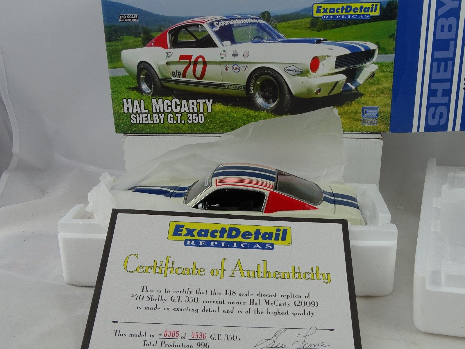 1 18 Exact Detail - 1966 Shelby G.T. 350 Hal McCarty  70 - RARE