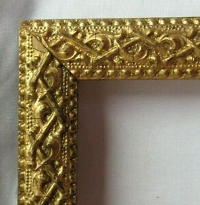 "ANTIQUE FITS 7"" X 9"" GOLD GILT ORNATE WOOD FRAME FINE ART VICTORIAN"