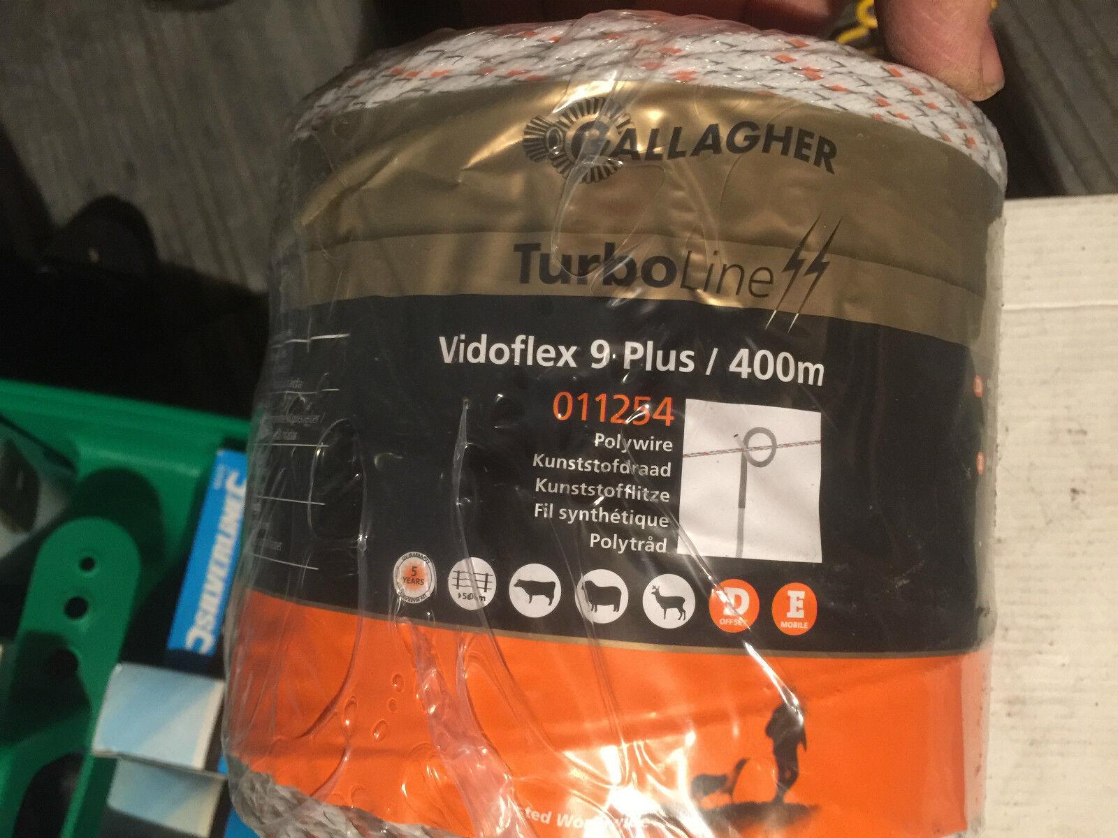 Gallagher vidoflex Elettrico Scherma Polywire Turboline PLUS 400m Bianco 011254