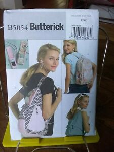 Oop-Butterick-5054-backpacks2-styles-mp3-cell-phone-covers-NEW