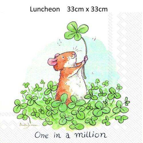 IHR One dans 1 million 3ply Cocktail /& parti de serviettes en papier déjeuner BBQ Serviette