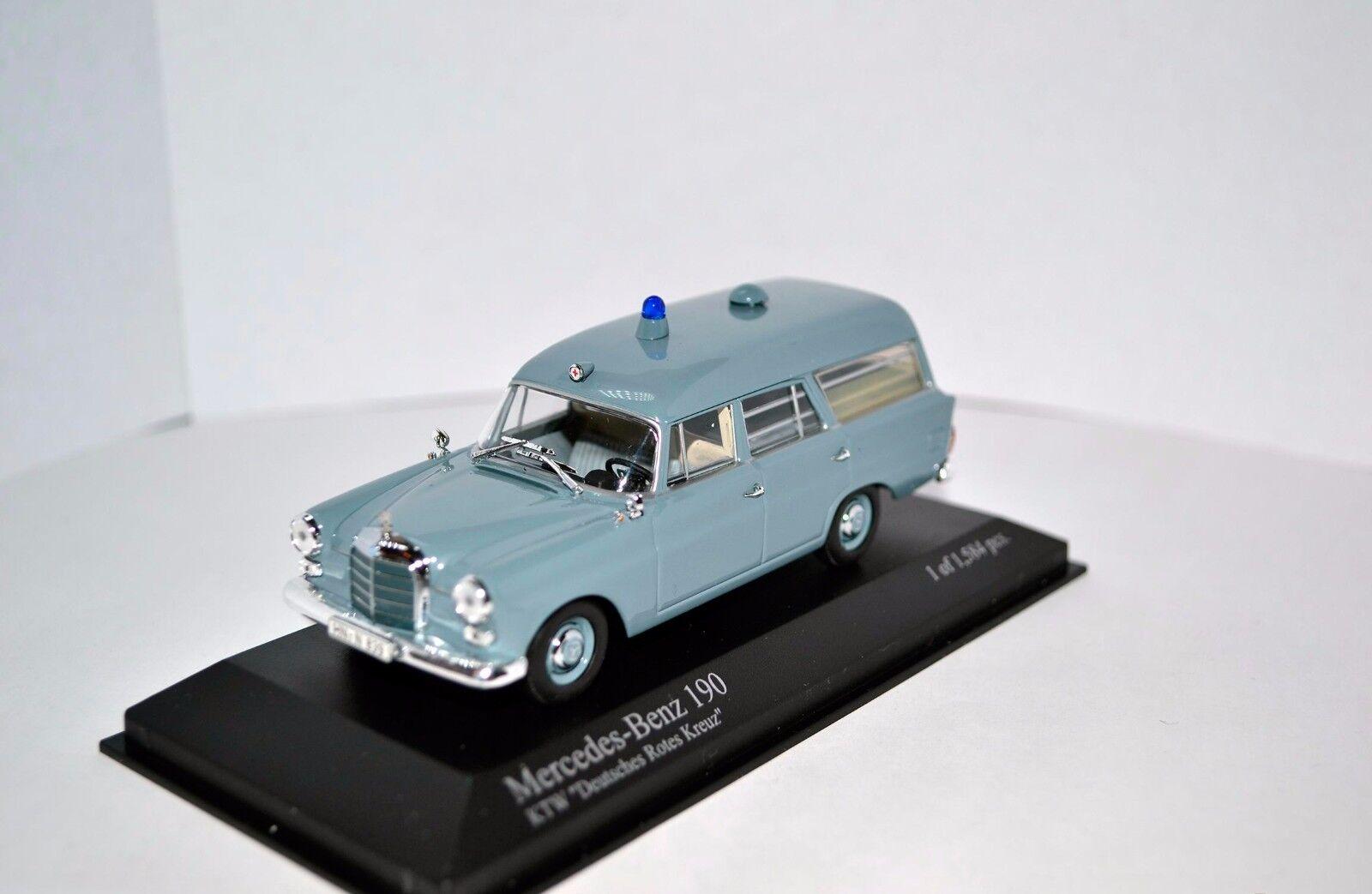 Mercedes-Benz 190 W110 Ambulance DRK 1 43 Minichamps NEW condition