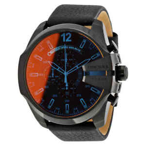 Diesel-Mega-Chief-Chronograph-Black-Dial-Men-039-s-Watch-DZ4323