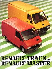 Renault Trafic & Master 1981-82 UK Market Sales Brochure Van Chassis Cab