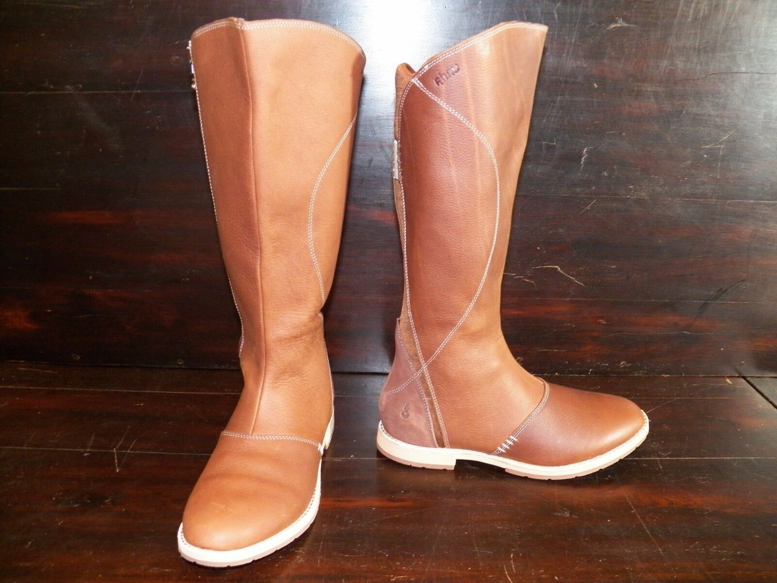 New Womens Ahnu Helena Brandy Leather Suede Tall Riding Equestrian Knee Boots