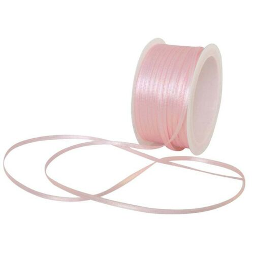 Gift wrapping ribbon satin ribbon 50m x 3mm pink N2O4