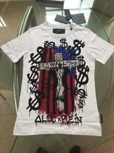 Nuovo A Philipp marca Genuine di Plein Four etichette T bianca shirt con monopoly BHRRqw0P