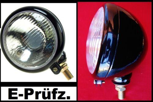 1x Ø 150mm Metall Scheinwerfer Hauptscheinwerfer Strahler Lampe Traktor Oldtimer